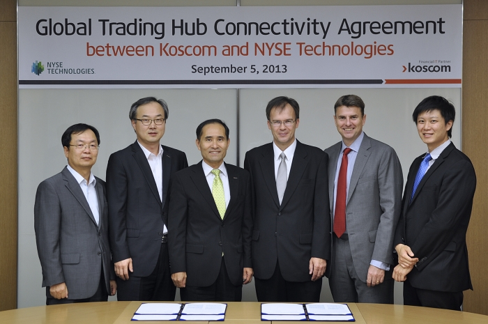 Koscom-NYSE Technologies, Promoting a connected business project for Global Trading Hub